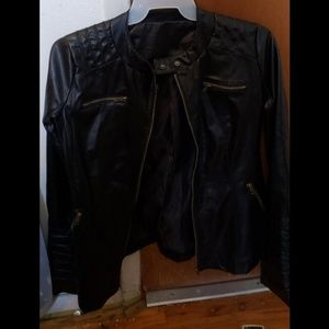 Jackets & Blazers - Juniors black leather jacket